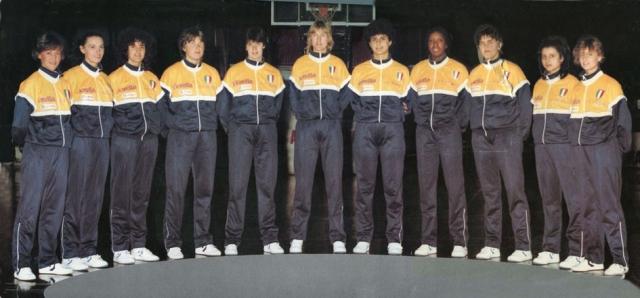 Fiorella Vicenza Campione d'Italia 1985:  Armilletti, Biondani, Dal Corso, Fullin, Gorlin, Lawrence,  Passaro, Peruzzo, Pollini, Smith, Stanzani.  Allenatore: Aldo Corno.